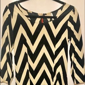 Chevron Shift Sheath Dress Size L by Sequin Hearts
